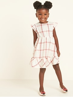 Fit & Flare Metallic-Weave Plaid Dress for Toddler Girls