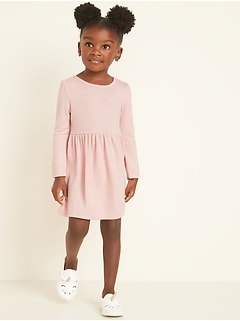 Plush-Knit Fit & Flare Dress for Toddler Girls