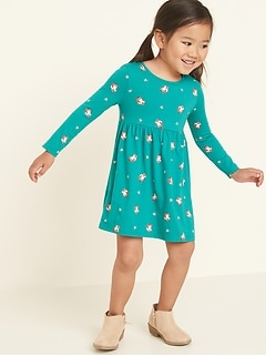 Fit & Flare Jersey Dress for Toddler Girls