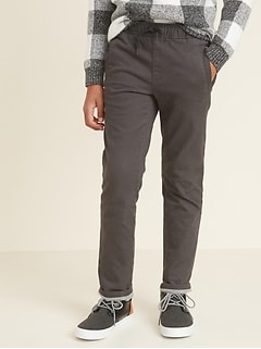 Relaxed Slim Jersey-Lined Twill Pants for Boys