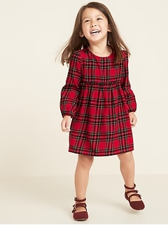 Plaid Fit & Flare Dress for Toddler Girls
