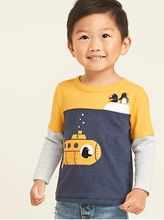 Graphic 2-in-1 Tee for Toddler Boys