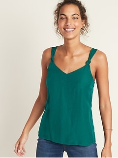 Textured-Dobby Cami for Women
