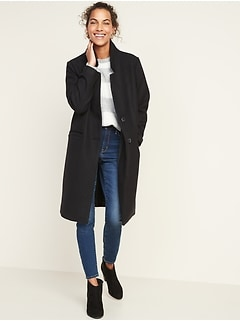 Relaxed Soft-Brushed Long-Line Coat for Women