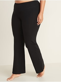 High-Waisted Plus-Size Boot-Cut Yoga Pants