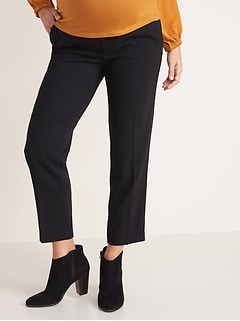Maternity Mid-Rise Full-Panel Pull-On Pants