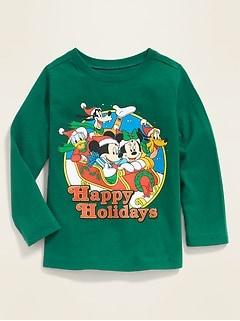 "Disney© Mickey & Friends ""Happy Holidays"" Tee for Toddler Boys"