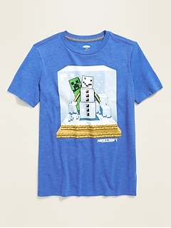 Minecraft™ Creeper Snowman Tee for Boys
