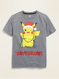 "Pokémon™ Pikachu ""Happy Holidays"" Tee for Boys"