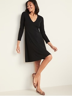Fit & Flare Empire-Waist Jersey Dress for Women
