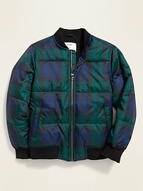 Old Navy Water-Resistant Puffer Bomber Jacket for Boys
