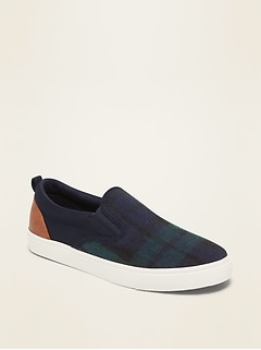 Brushed-Canvas Slip-Ons for Boys