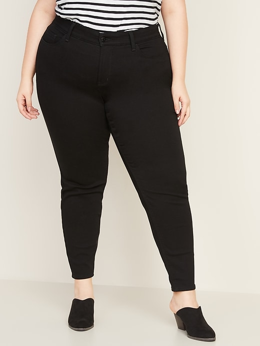 High Waisted Secret Slim Pockets + Waistband Built In Warm Rockstar Plus Size Jeans by Old Navy