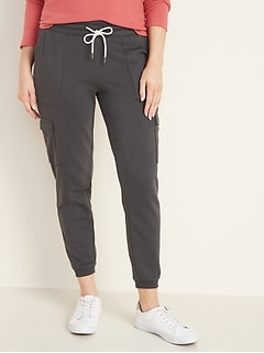 French Terry Cargo Joggers for Women