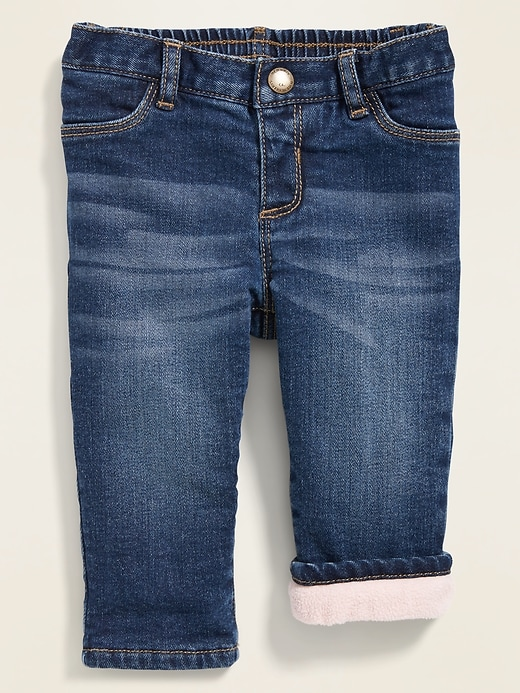 Micro Performance Fleece-Lined Boyfriend Jeans for Baby