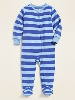 Striped Performance Fleece Footie Pajama One-Piece for Toddler & Baby