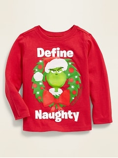 "Dr. Seuss' The Grinch™ ""Define Naughty"" Tee for Toddler Boys"