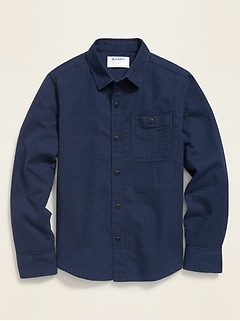 Textured Long-Sleeve Shirt for Boys