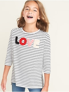 Graphic Hi-Lo Tee for Girls