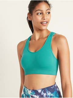 Light Support Seamless Racerback Sports Bra for Women