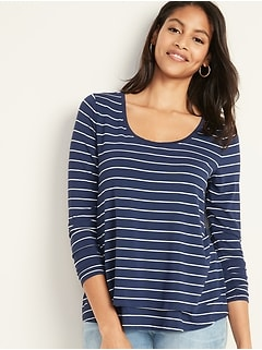 Maternity Double-Layer Jersey Nursing Tee
