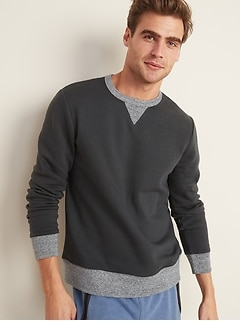 Soft-Washed Crew-Neck Sweatshirt for Men