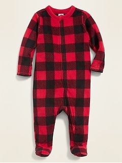 Printed Micro Performance Fleece Footed One-Piece for Baby