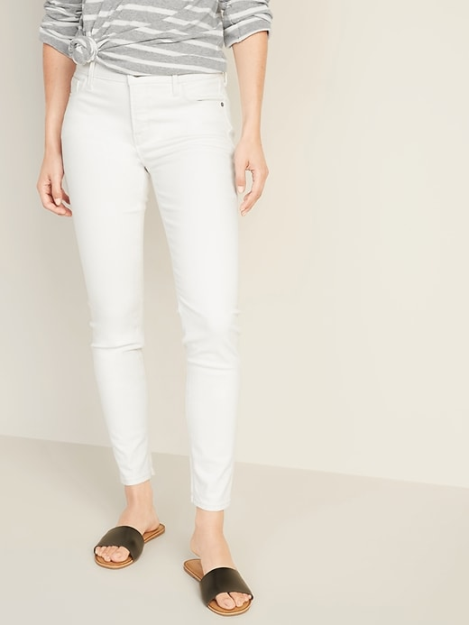 Mid-Rise Clean-Slate Built-In Sculpt Rockstar Super Skinny Ankle Jeans for Women