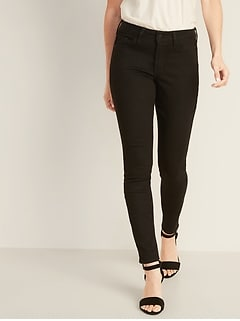 Mid-Rise Pop Icon Skinny Black Jeans for Women