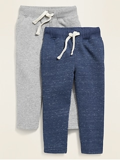 Functional Drawstring Sweatpants 2-Pack for Toddler Boys