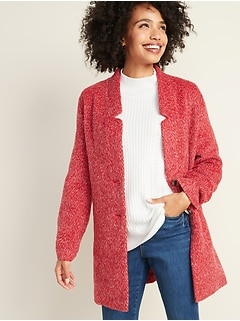 Relaxed Textured Cardi Coat for Women