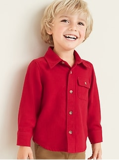 Flannel Chest-Pocket Shirt for Toddler Boys