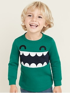 Graphic Fleece-Knit Sweatshirt for Toddler Boys