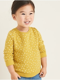 Polka-Dot Fleece-Knit Sweatshirt for Toddler Girls