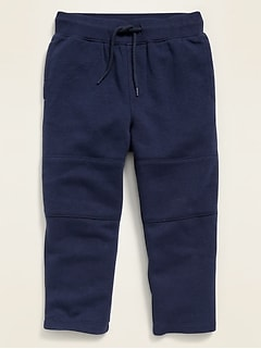 Fleece-Knit Functional-Drawstring Pants for Toddler Boys
