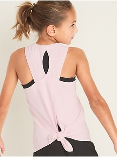 Ultra-Soft Breathe ON Tie-Back Tank for Girls