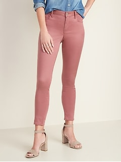 Mid-Rise Sateen Rockstar Super Skinny Jeans for Women