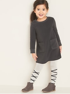 Micro Fleece Shift Dress for Toddler Girls
