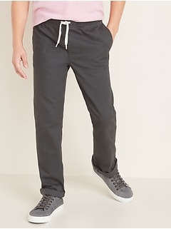 Elasticized Waist Pull-On Twill Pants for Boys