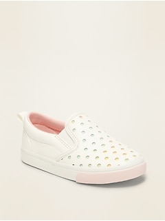Perforated Slip-Ons for Toddler Girls