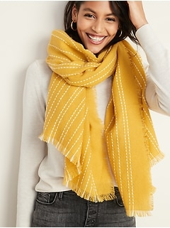 Fringed Oversized Scarf for Women