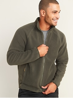 Go-Warm Sherpa/Tricot Zip Jacket for Men