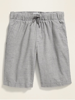 Straight Built-In Flex Textured Jogger Shorts for Boys