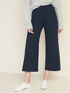 High-Waisted Stevie Wide-Leg Ponte-Knit Pants for Women
