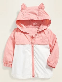 Hooded Bunny-Critter Windbreaker for Baby