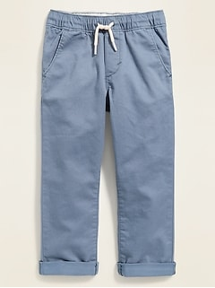 Relaxed Pull-On Twill Pants for Toddler Boys