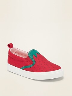 Canvas Slip-On Sneakers for Toddler Girls