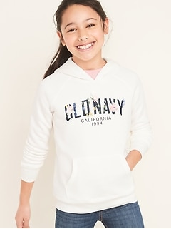 Logo-Graphic Pullover Hoodie for Girls