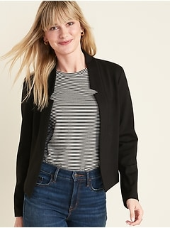 Cropped Ponte-Knit Blazer for Women