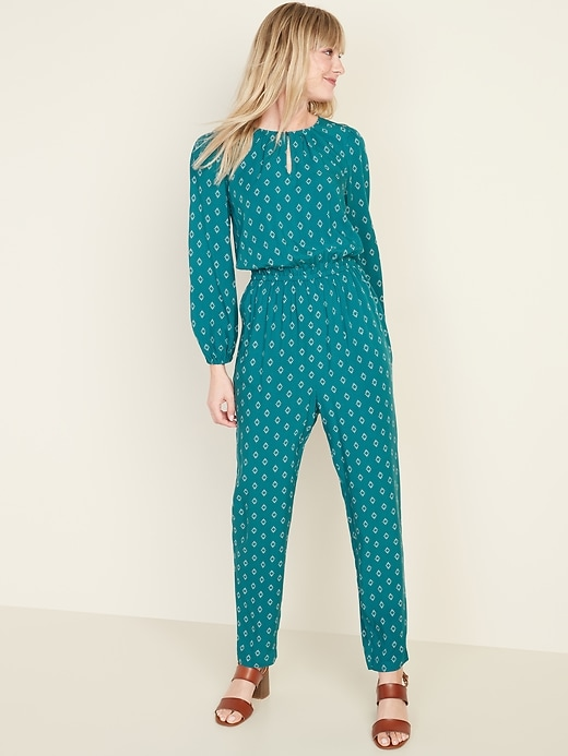 Old Navy Waist-Defined Keyhole Women's Jumpsuit